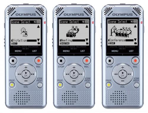Reportofon profesional stereo Olympus WS-801 silver + casti STEREO